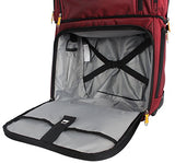 "Lucas Luggage 15"" Carry On Expandable Wheeled Under Seat Bag With Usb Port (Red)"