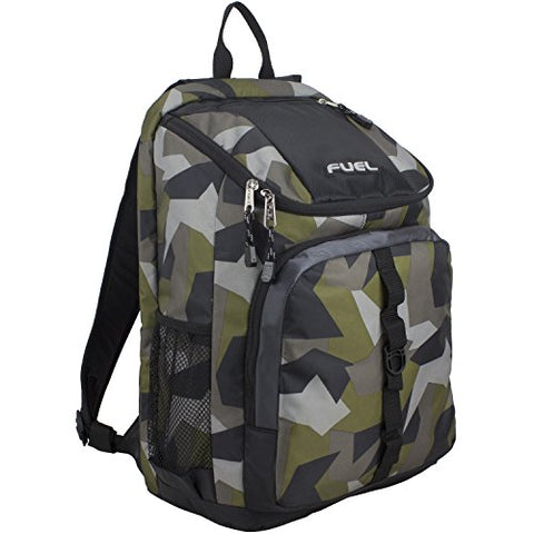 Fuel Wide Mouth Sports Backpack with Laptop Compartment for School, Travel, Outdoors - Olive