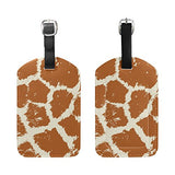 Deyya Colorful Animal Skin Giraffe Luggage Tags For Suitcase Labels Bag Travel Accessories - Set Of