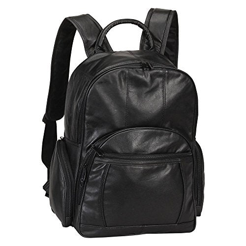 Bellino Leather Laptop Backpack (Black)