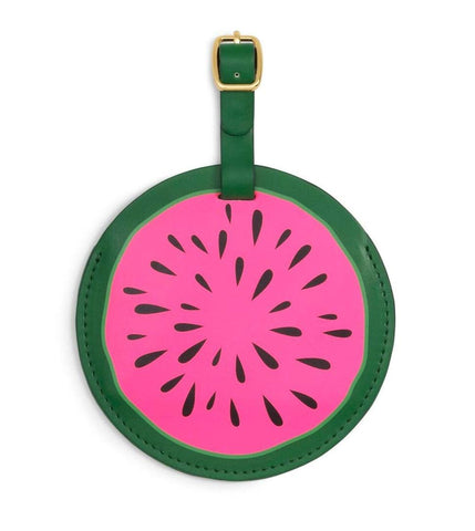 ban.do Women's Getaway Leatherette Circle Luggage Tag with Strap (watermelon)