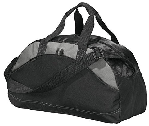 Port & Company Luggage-And-Bags Improved Small Contrast Duffel Osfa Black