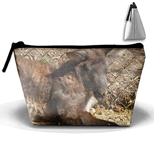 Trapezoidal Strorege Bag Animal Wallaroo Makeup Pouch Durable Travel Bag with Zipper