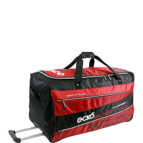 "Ecko Unltd Traction 32"" Large Rolling Duffel Bag,  Red,  One Size"