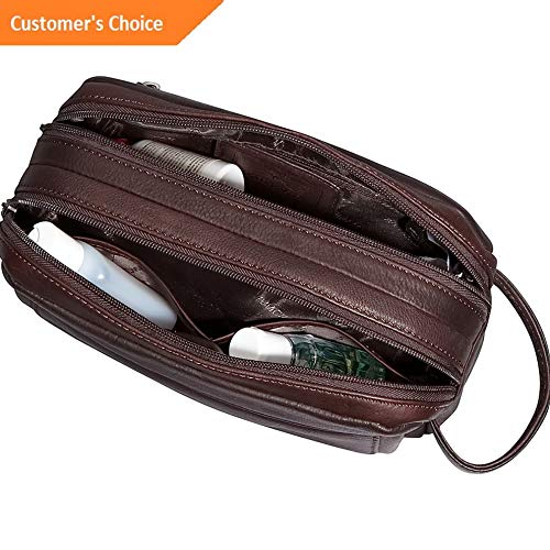 Sandover Mancini Leather Goods Colombian Leather Double Toiletry Kit NEW | Model LGGG - 4720 |