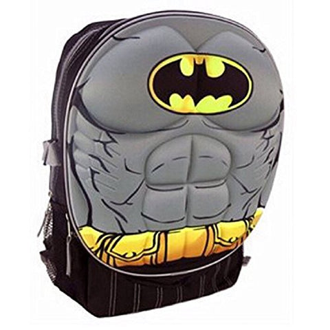 Dc Comics Batman Muscle Molded Chest Kids 16 Backpack