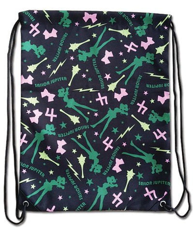 Sailor Moon Sailor Jupiter Pattern Drawstring Bag