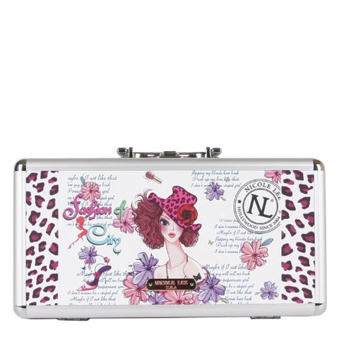 Nicole Lee Priscilla 14 Inch Brush Case, Sunny White, One Size