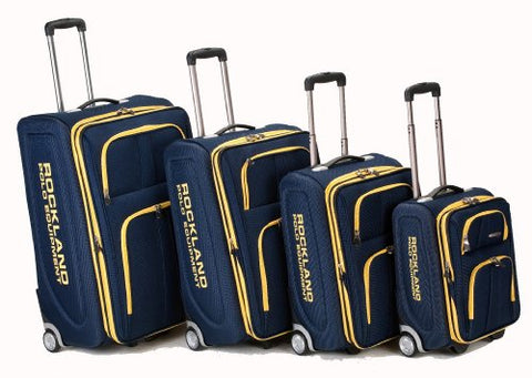 Rockland Luggage Varsity Polo Equipment 4 Piece Luggage Set, Navy, One Size
