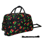 World Traveler 21-Inch Rolling Duffle Bag, Cherry