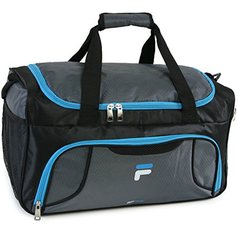 Fila Racer Sm Travel Gym Sport Duffel Bag, Grey/Blue