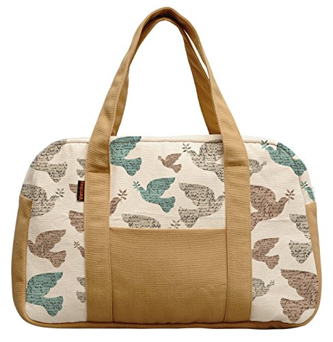 Vietsbay Women Peace Dove Pattern Canvas Travel Duffle Bags Was_19