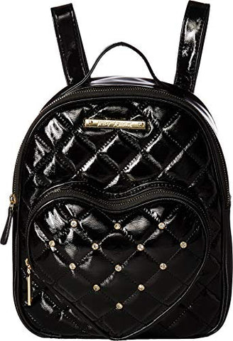 Betsey Johnson Women's Heart Pocket Backpack Black One Size