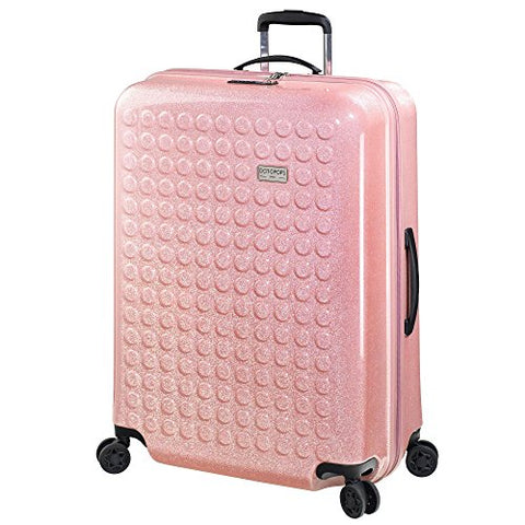 "Dot Drops Chapter 3 29"" Hardside Checked Spinner Luggage (Pink)"