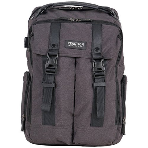 "Kenneth Cole Reaction 600d Polyester Dual Compartment 15.6"" Computer Business Backpack, Charcoal, One Size"