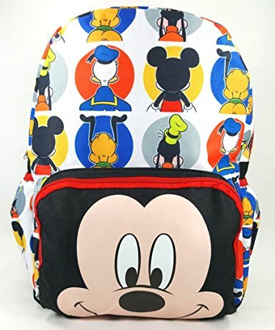 "MICKEY MOUSE LARGE 16"" BACKPACK - BIG FACE - 12463"