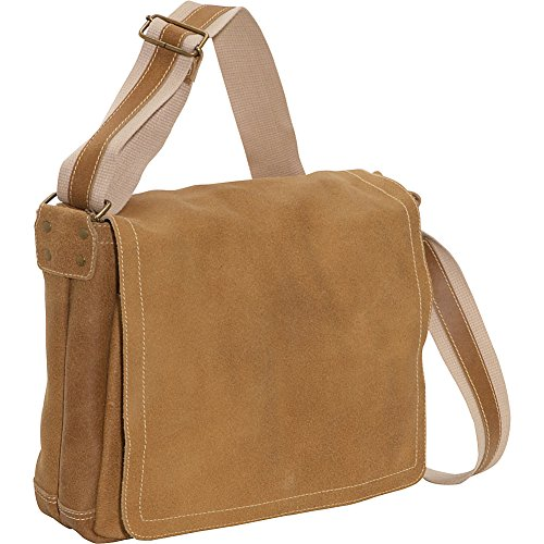 David King & Co. North South Laptop Messenger, Tan, One Size