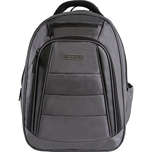 Perry Ellis Men'S M325 Business Tablet Compartment Laptop Backpack, Charcoal, One Size