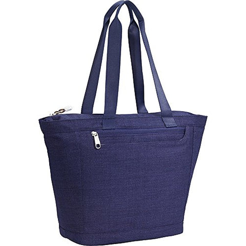 eBags Metro Travel Tote Bag with RFID Security for Women - 12-inch - Carry-On - (Brushed Indigo)