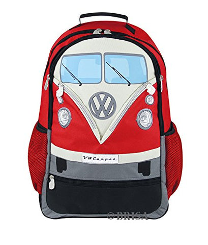 Vw Collection By Brisa Backpack With Vw Bus T1 Front Design (Red)