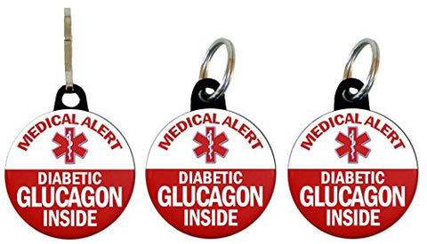 Henry The Buttonsmith Glucagon Diabetic Bag Tag Set (Basic Set)