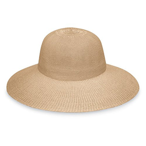 Wallaroo Women'S Victoria Diva Sun Hat - Packable Straw Hat (Tan)