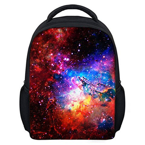 Freewander Kids School Backpack Galaxy Pattern Customized Kindergarten Book Bags