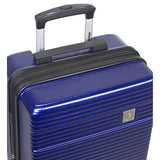 Dejuno Ashford 3-Pc Hardside Spinner Tsa Combination Lock Luggage Set, Navy