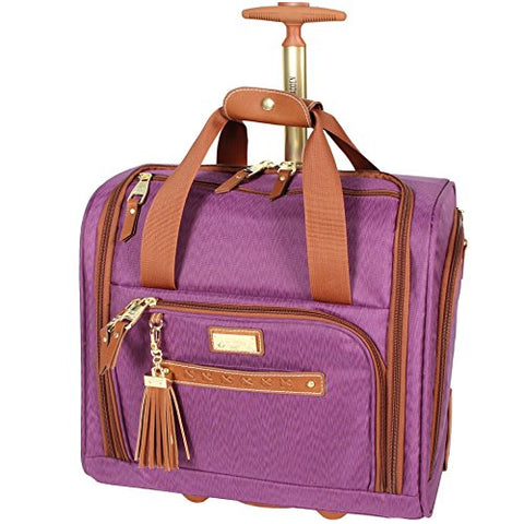 Steve Madden Global Wheeled Purple Under Seat Bag