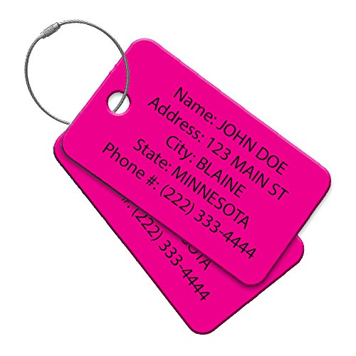 Multi Pack Customized Tavel Tag - Luggage Tag - Golf Bag ID - Personalized ID Travel Tag - Imprinted Luggage Tag - luggage, bikes, sport equipment and more. (4)