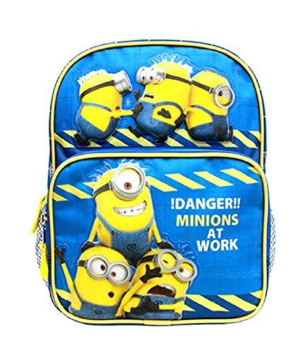 10' Despicable Me Minions on top of front pocket 2 minions on pocket backpack