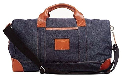 True Religion Denim Duffle Bag, Dk Indigo, Bnwt $349 Made In Usa
