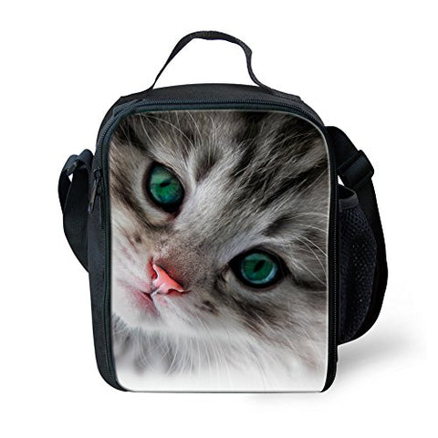 Doginthehole Children Unisex Cute Cats Pet Lunch Bags With Compartments For Teens Boys Girls