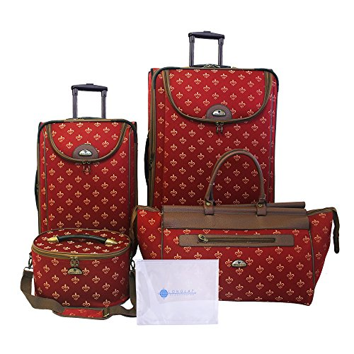 American Flyer Bennington 5-Piece Luggage Set, Red