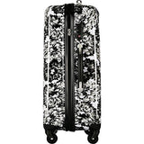 "Isaac Mizrahi Boldon 29"" Hardside Checked Spinner Luggage (Black White)"