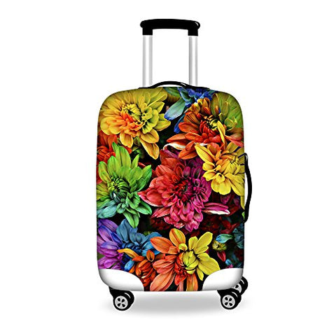 "Youngerbaby Flower 3D Luggage Cover Spandex Travel Suitcase Protective 18""-30"""