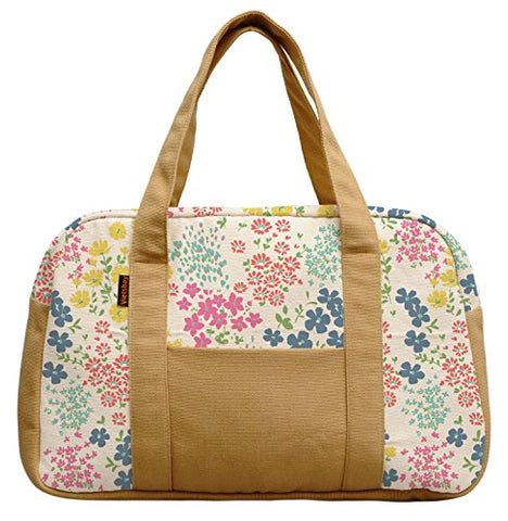 Women'S Seamless Ditsy Floral Pattern Printed Canvas Duffel Travel Bags Was_19