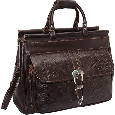"Ropin West 18"" Leather Weekender (Brown)"