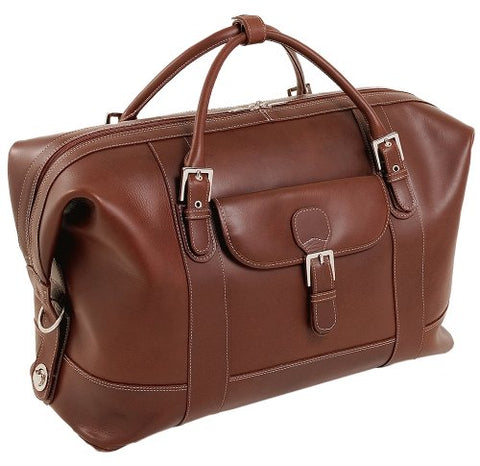Siamod Amore 25084 Cognac Leather Duffel Bag