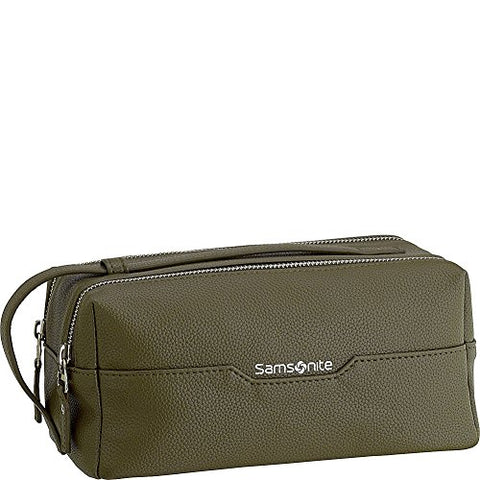 Samsonite- Leather Travel Accessories Dusk Convertible Strap Top-Zip Kit (Olive)