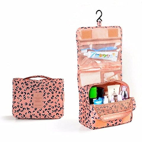 AutumnFall Pockettrip Hanging Toiletry Kit Clear Travel BAG Cosmetic Carry Case Toiletry (Pink)