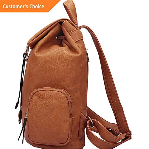 Sandover Dasein Drawstring Accent Backpack with Side Pockets Backpack Handbag NEW | Model LGGG -