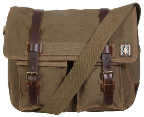 "Damndog Haversack 16.5"" Canvas Flapover Messenger Bag"