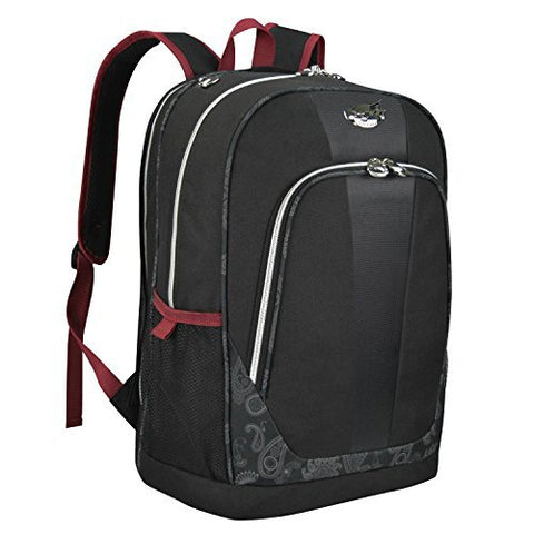 "Bret Michaels Luggage Classic Road 19"" Laptop Backpack (Black)"