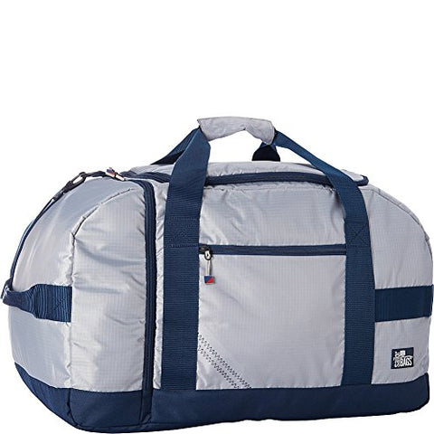 SailorBags Silver Spinnaker Cruiser Duffel (Silver with Blue Trim)