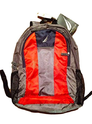 Nautica Backpack Nxr6147 17 Bpk Dark Grey Mack Orange Navy Laptop Bag