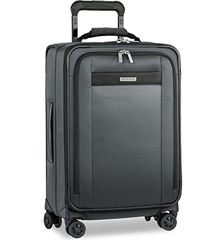 Briggs & Riley Transcend Tall Carry-On Zip Expandable Spinner (Slate)