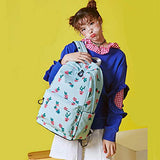Hey Yoo HY770 Girls School Backpack Waterproof Casual School Bag Bookbag Backpack for Women Teen Girls (Water Blue)