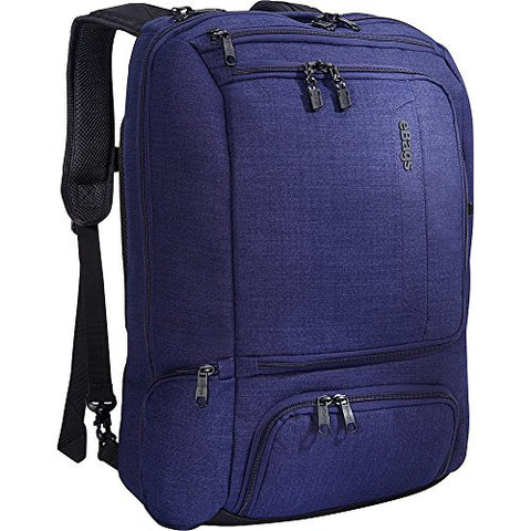 "eBags Professional Weekender Carry-On Backpack for Travel & Business - TSA Friendly - Fits 18"" Laptop - (Brushed Indigo)"