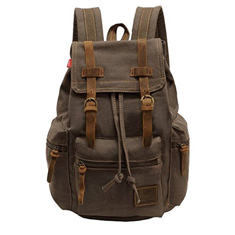 Canvas Backpack, P.KU.VDSL-AUGUR Series Vintage Canvas Backpack, Hiking Daypacks, Computers